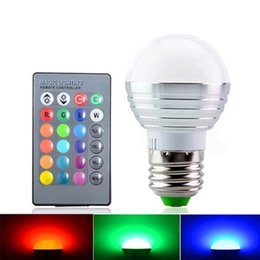 Wholesale 5w Bulb Rgb E14 - 2016 Newest rgbw (rgb + white) e27 e26 e14 led bulbs light 5w rgb led lights for christmas lighting + ir remote contorl