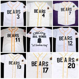 Wholesale Bond Movies - Bad news BEARS Movie Jersey Button Down #3 Kelly Leak #12 Tanner Boyle Chicos Bail Bonds Movie Baseball Jerseys