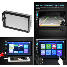 Wholesale Touch Screen Car Camera - 2 Din Car Radio Player 7 inch HD Touch Screen Wireless Bluetooth Car Stereo MP5 Player Rear View Camera FM USB TF AUX IN Russian