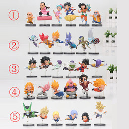 Wholesale Dragon Dolls - 6pcs set 5-9cm Dragon Ball Z Action Figure The Historical Characters WCF PVC Action Figure Collection Model Toy Doll