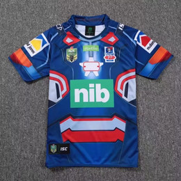 Wholesale Eagle Wine - Spain rugby Jersey Newcastle Knights Iron Patriot Brisbane Broncos Iron Man Melbourne Storm Thor Wests Tigers Sea Eagles North Queensland