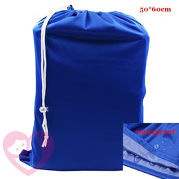 Wholesale White Pails - Wholesale-New coming 1pc free shipping plain color one pocket wet dry diaper bag, 8colors for your choice waterproof pail liner 50cm*60cm