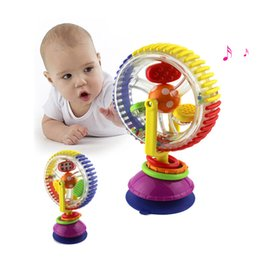 Wholesale Colorful Ferris Wheel - Wholesale- 1pc New Baby toys colorful Ferris wheel with rattles Child early educational musical visual sense toys free shipping