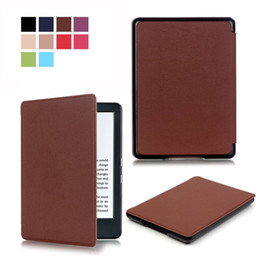 Wholesale Color Kindle Cases - Magnetic Slim Smart Folio PU Leather Case Cover For new Kindle 6 inch 8th Gen 2016 case mix color by dhl