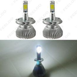 Wholesale H4 Xenon Led Light - FEELDO Super White H4 Hi Lo 60W 6400LM Car COB LED Headlight Kit Fog Lamp Xenon Bulb 6000k #2401