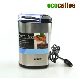 Wholesale coffee grinder free shipping - 1PC Free Shipping Coffee Bean Grinder 220V Euro Plug Coffee Mill Food Mill