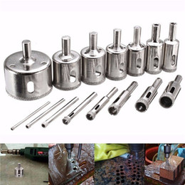 Wholesale Drill Core Bit - 15pcs 3-45mm Diamond Coated Core Hole Saw Drill Bit for Marble Tile