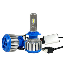 Wholesale High Power Headlights - T1 H4 Car Led Headlight High Power Auto H4 H13 9004 9007 High Low 80W White 6000K Bulb Repalcement Bi Xenon Headlamp