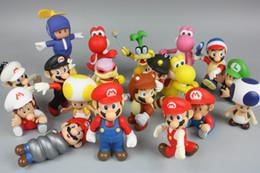 Mario Bros Luigi eşek kong youshi mario şeftali Aksiyon Figürleri PVC Bebek Karışık stil Ücretsiz kargo E1922 nereden