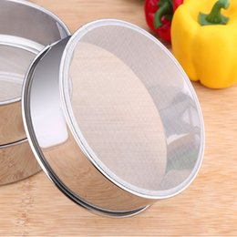 Wholesale Kitchen Sieve Strainer - Mesh Flour Sifter Sieve Strainer Stainless Steel Coco Chocolate Powder Dusting Shaker Sifter Cake Baking Kitchen Practical tool