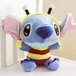 Wholesale Baby Lilo Stitch - Kawaii Stitch Plush Toys Cute Lilo and Stitch Cosplay Bee Stuffed Toys Doll Stich Plush Toys 18cm Kids Baby Toy Hot Sale