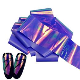 Wholesale Full Nail Foils - Wholesale- Full Beauty 100*4cm DIY Salon Holographic New Broken Glass Mirror Foil Nail Art Paper Sticker DIY Nail Decoration Tools BL11