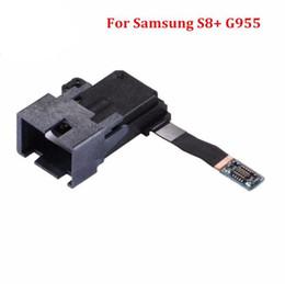 Wholesale Headphone Parts - New High Quality Earphone Headphone Jack Audio Flex Cable Replacement Part For Samsung S8 G950 S8+ Plus G955 Repair
