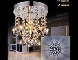 Wholesale Crystal Chandelier Drop Rain - Mini Modern Crystal Chandeliers Flush Mount Rain Drop Pendant Ceiling Light with Warm Color Bulb for Girls Room,Bedroom