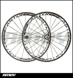 Wholesale Wheel Set Carbon Bike - Free shipping 38mm Clincher 25mm width Carbon wheels with EST 90-SL painting full carbon 700C road bike wheelset