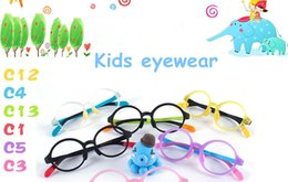 Wholesale Prescription Sports Eyeglasses - 2017 new lovely candy color non-toxic kids eyewear frame super-light with quality silica gel and TR90 for kids prescription glasses 29006