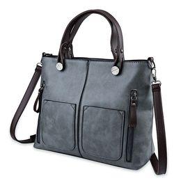 Wholesale Leather Bag Long Strap - 2017 Black Women Handbags High Quality Leather Long Strap Ladies Shoulder Bags Big Capacity Solid Color Zipper Bags