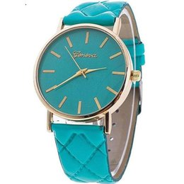 Wholesale Birthday Gift Watches For Women - 2017 Colorful dress Geneva Watch Fashion women dress watches leather watches For Christmas Birthday Gift fast shipping