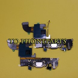 Wholesale Charging Ports - 10pcs For Apple iPhone 6 6G 6s 4.7 Charger Charging Port Dock Connector with Flex Cable Free Shipping
