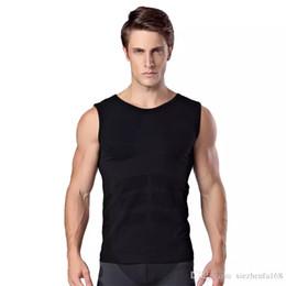 Wholesale Men Body Vest - Men's sleeveless body sculpting plastic clothing soft pressure comfortable breathable fast-drying sportswear vest