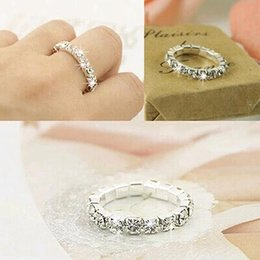 Wholesale Cheap Wholesale Fashion Rings - Big Promotions !120 pcs Rhinestone white Fashion Finger Rings Silver Crystal Toe Ring Elastic Body Jewellery Cheap wholesale