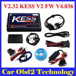 Wholesale Kit Programmer - DHL Free Newest V2.32 KESS V2 Firmware V4.036 KESS V2 OBD2 Manager Tuning Kit Master Version with Unlimited Token