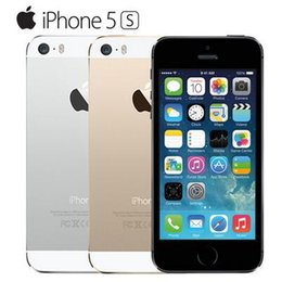 Wholesale Mobile 1g Ram - 2016 Hot Sale Apple iphone 5S Mobile phone LTE Dual core 4.0 inches 1G RAM 64GB ROM 8MP IOS low price phone with touch ID