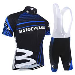 Wholesale Lycra Spandex Dark Blue - BXIO Brand Pro Team Mountain Road Cycling Jersey Dark Blue Zipper Bike Clothes Sets Men Cycle Jerseys Hot Sale Ropa Ciclismo BX-010
