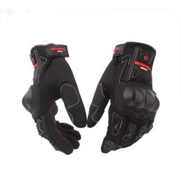 Wholesale Riding Full Finger Protective Gloves - Wholesale- Motorcycle Gloves Cycling Racing Riding Protective Gloves Motocross Gloves for Scoyco MC12 Full Finger Carbon Safety