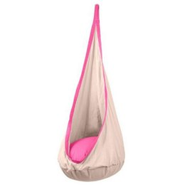 Wholesale Children Outdoor Swing - Wholesale- Kids Pod Swing Chair Nook Tent Indoor Outdoor Child Hanging Seat Hammock