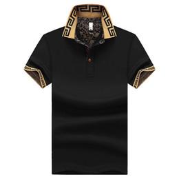Wholesale Plus Size Clothing For Men - plus size M~5XL Men's Brand Polo Shirt For Men Designer Polos Men Short Sleeve shirt jerseys golftennis clothing XZ-041