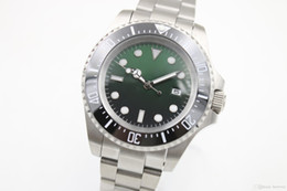 Wholesale Deep Bezel - 2017 Hot Sell Luxury Mens DEEP Green-Black Ceramic Bezel 44mm SEA Stanless Steel original Clasp 116660 Automatic mens watches free shipping