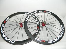 Wholesale Road Carbon Fiber Wheels - 23mm width full carbon fiber road bike wheels carbon wheelset 700c rims carbon bicycle wheels clincher 50mm powerway R36 hubs