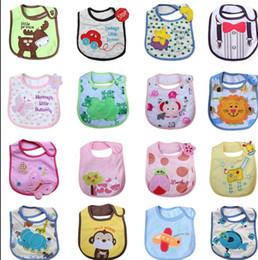 Wholesale Children Bib Baby Cartoon Animals - Infant saliva towels toddler Baby bibs Baby burp cloths kids cotton handkerchief children animal bibs Baby Feeding Bib 44 design KKA2052