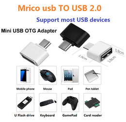Wholesale Micro Usb Otg Cable Adapter - Android Micro USB OTG Adapter Data Cable Adapter Type-C Male to Micro USB Female Mini Converter For Tablet PC MP3 MP4 smart Phone