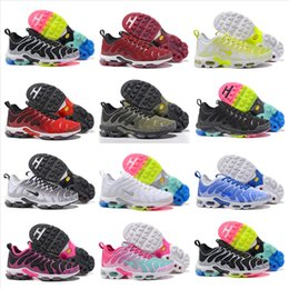 Wholesale Outdoor Print Fabric - 2018 New Air Cushion Plus TN Ultra Running Shoes Mens Womens Sports Shoes Cheap High Quality Outdoor Athletic Sneakers Size 5.5-12