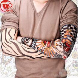 Tatuajes de ciclismo online-Fiesta de Halloween Impresión 3D Tatuaje Deportes al aire libre Ciclismo Calentadores de brazo Ciclismo Manga del brazo Bicicleta Ciclismo Oversleeve Cubiertas de brazo de baloncesto