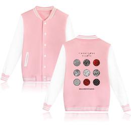 Wholesale Hot Anime Breast - Wholesale- 2017 Hot Fashion Twenty One Pilots Brand Design Baseball Jacket 4 Colors Capless Sweatshirt Anime Hoodies Unisex Brand Clothing