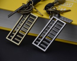 Wholesale Cool Rings For Women - new cool mathematical calculation through abacus Chinese Zhusuan charm key chain key rings for bags or car key