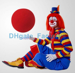 Wholesale Christmas Tree Fun - party Fun Red Nose Foam Circus Clown Nose Comic Party Supplies Halloween Accessories Costume Magic Dress Party Supplies DHFTY-032