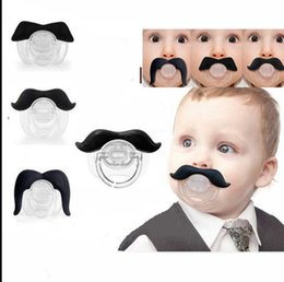 Wholesale Dummy Child - Children Pacifier Novelty Moustache Babys Child Soother Beard Nipples Kids Gift Safe Pacifier Beard Funny Dummy Nipple KKA2479