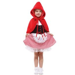 Wholesale Little Girl Clothes For Sale - Hot Sale Halloween Costume For Kids Little Red Riding Hood Children's Fancy Dress Sexy Carnival Party Girls Clothes Gifts YW008