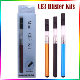 Wholesale E Cigarette Oil Kit - Mini CE3 Blister Kits BUD Touch Kits O PEN Oil Atomizer Ce3 Vaporizer 280mAh Bud Touch Battery Ce3 E Cigarette Blister Kits