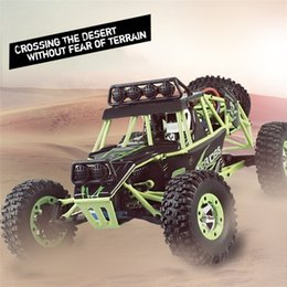 Wholesale Led Chassis Lights - Wholesale- Rock Climbing Remote Control Car Model Electric Four Wheel Drive Full Scale RC Car with Two Row LED Lights Protective Chassis