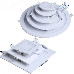 Wholesale Led Round Ceiling Light 18w - LED Ceiling Recessed Downlight Round Panel Light Ultra Thin Design 4W 6W 9W 12W 18W Indoor lighting AC100-240V CE UL 3 years warranty