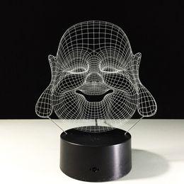 Bateria surpreender on-line-Incrível Maitreya 3D Lâmpada Night Light 7 Luzes RGB Botão de Toque AA Bateria Presente De Carregamento USB Presente Rápido Frete Grátis Dropshipping