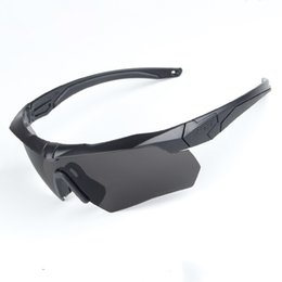 Wholesale Tactical Glasses Ess - ESS Polarized Cycling Sunglasses Tactical Military Glasses Army Goggles 3 Lens TR90 Oculos Ciclismo Safety Glasses 091