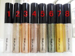 Wholesale Metallic Liners - Shiny Eye Liner Glitter Eyeshadow Liquid Shining Eyeliner Bronzer Gold Shimmer Makeup maquiagem