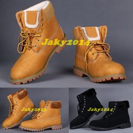 Wholesale Shoe Inside - Fashion Fur inside Winter Snow Outdoor Boots For Men Work Hiking Shoes 3 Colors Ankle Warm Casual Sneakers