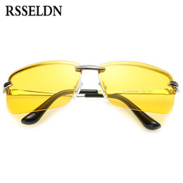 Wholesale Night Vision Car Driving Glasses - Wholesale- RSSELDN Hot Sale men's car drivers night vision goggles anti-glare polarizer sunglasses Men Driving Sun Glasses Male Accessori